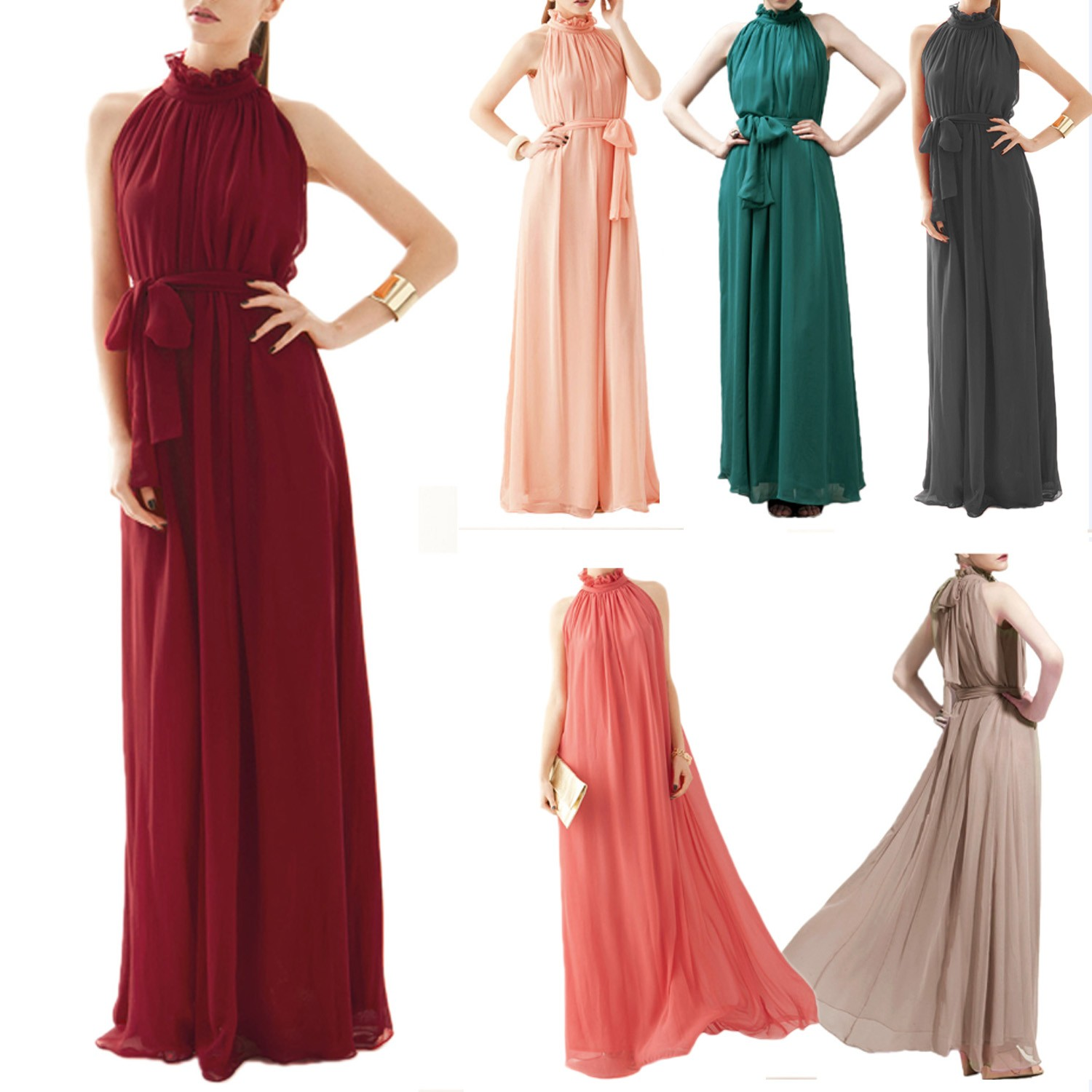 Chiffon Maxi Long Evening Dress - 0427#
