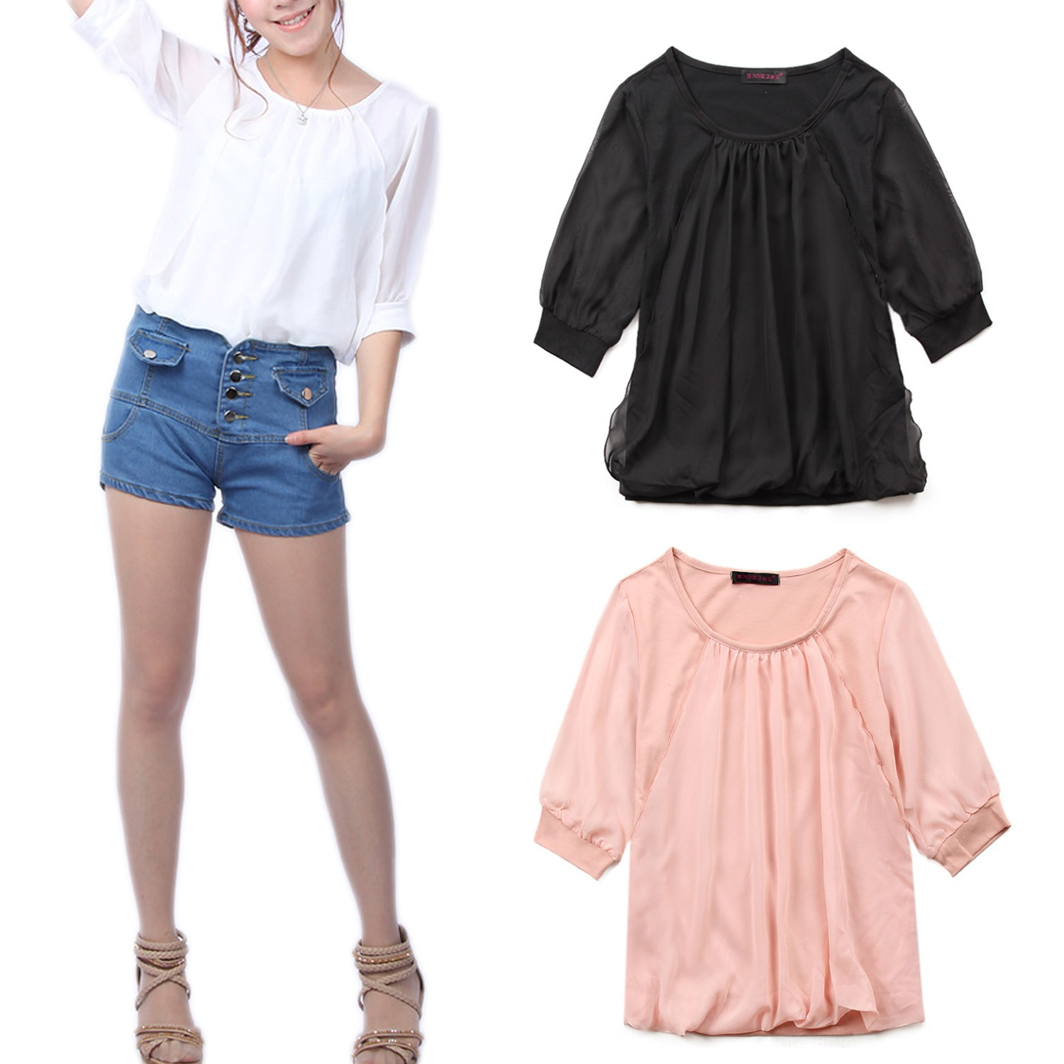 Chiffon Top Blouse - t113#