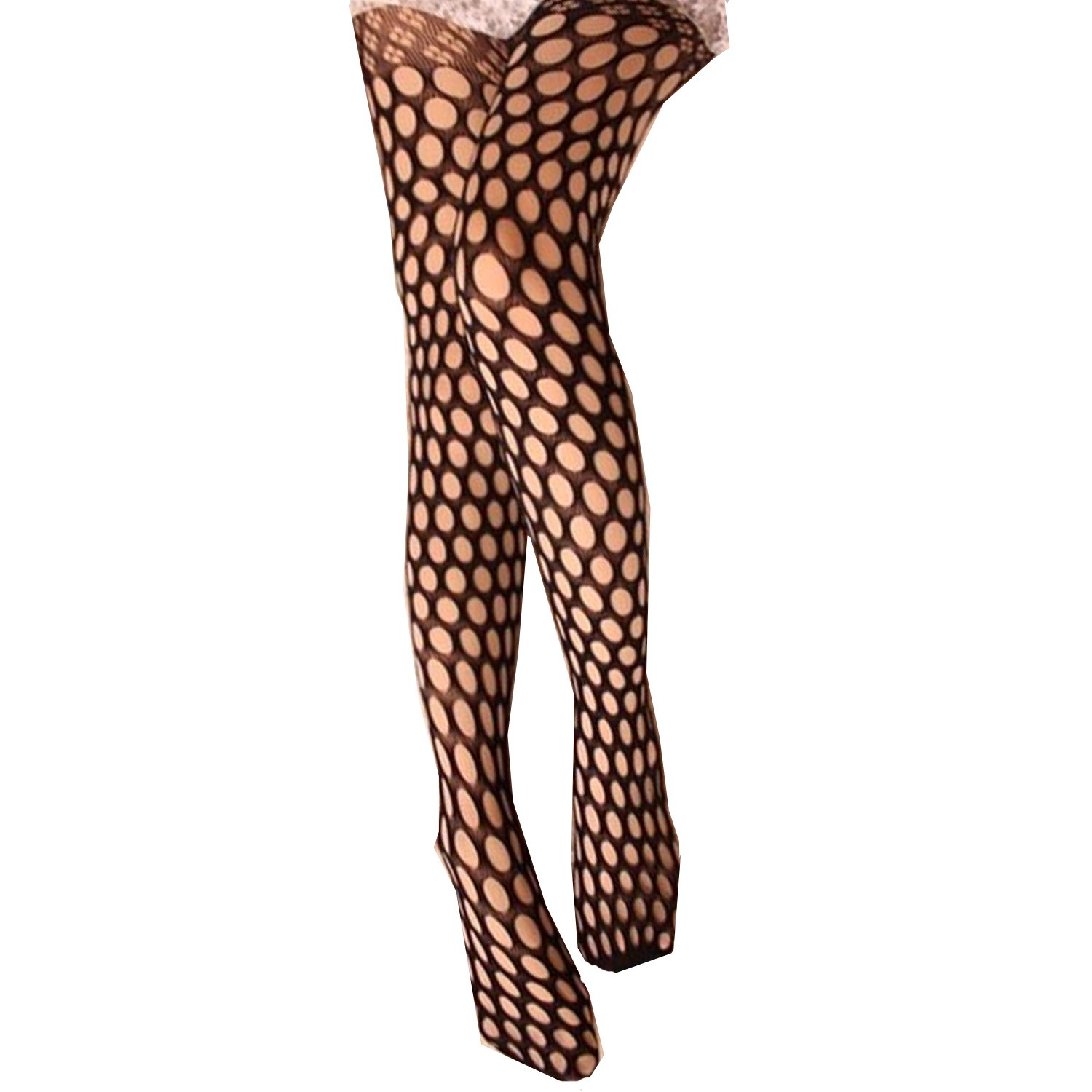 Polka Dot Fishnet Pantyhose Tights - A857#