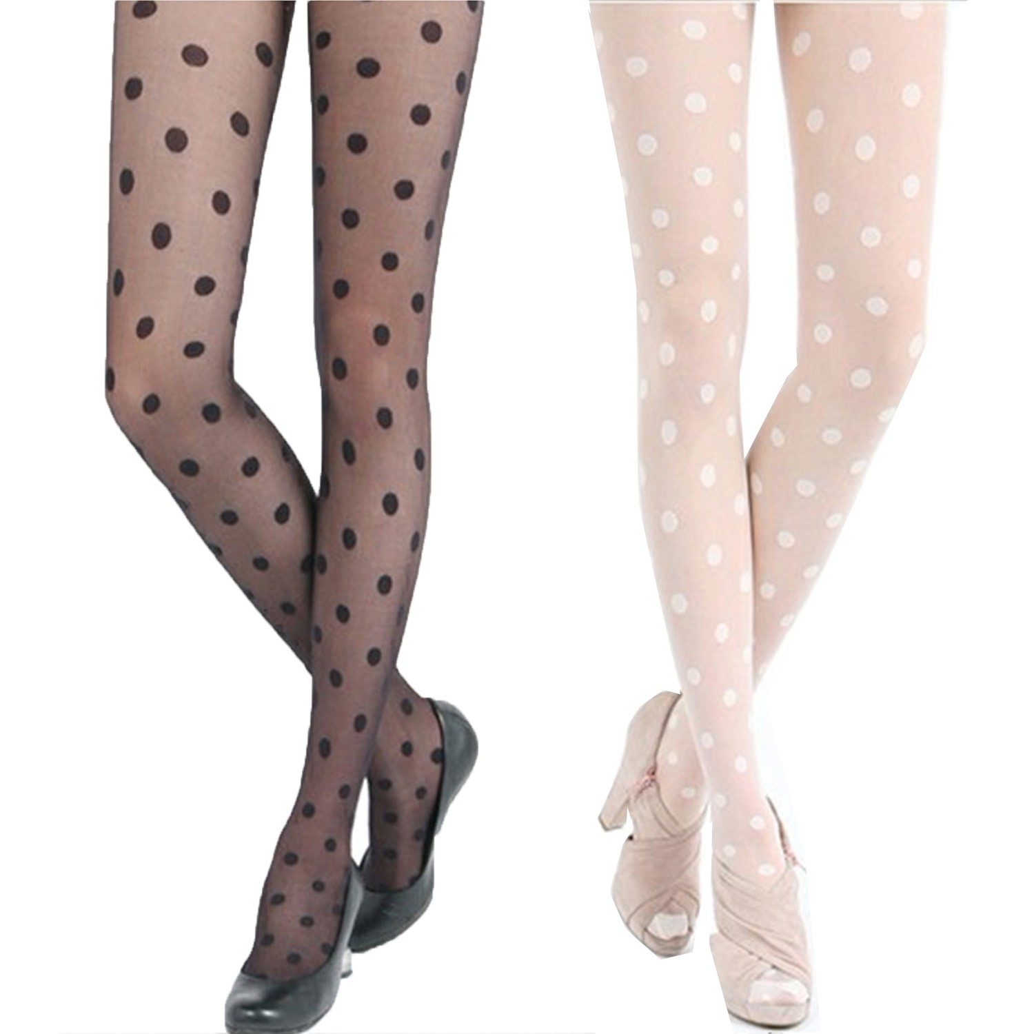 Polka Dot Sheer Pantyhose Tights - A858#