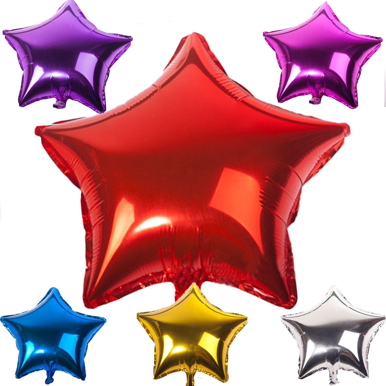 Party Helium Foil Balloons Star Shape Bulk - BL15#