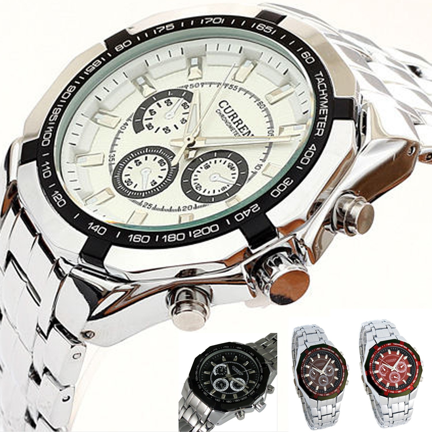 Geneva Silicon Rhinestone Watch - CH03#
