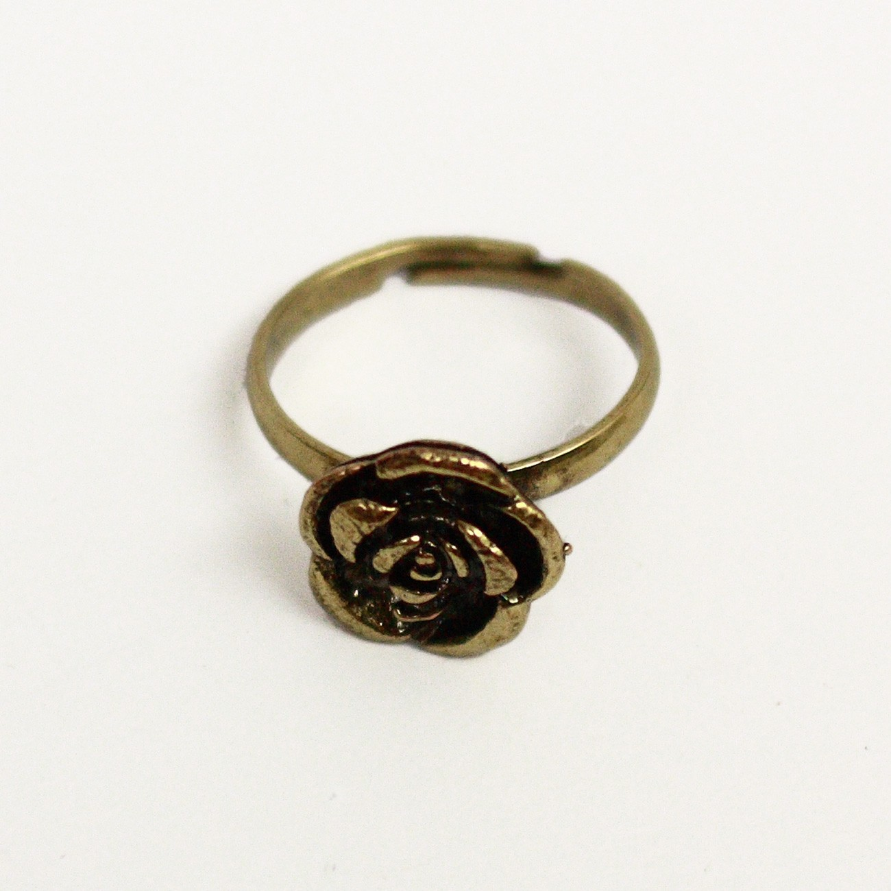 Rose Flower Adjustable Ring - D822#