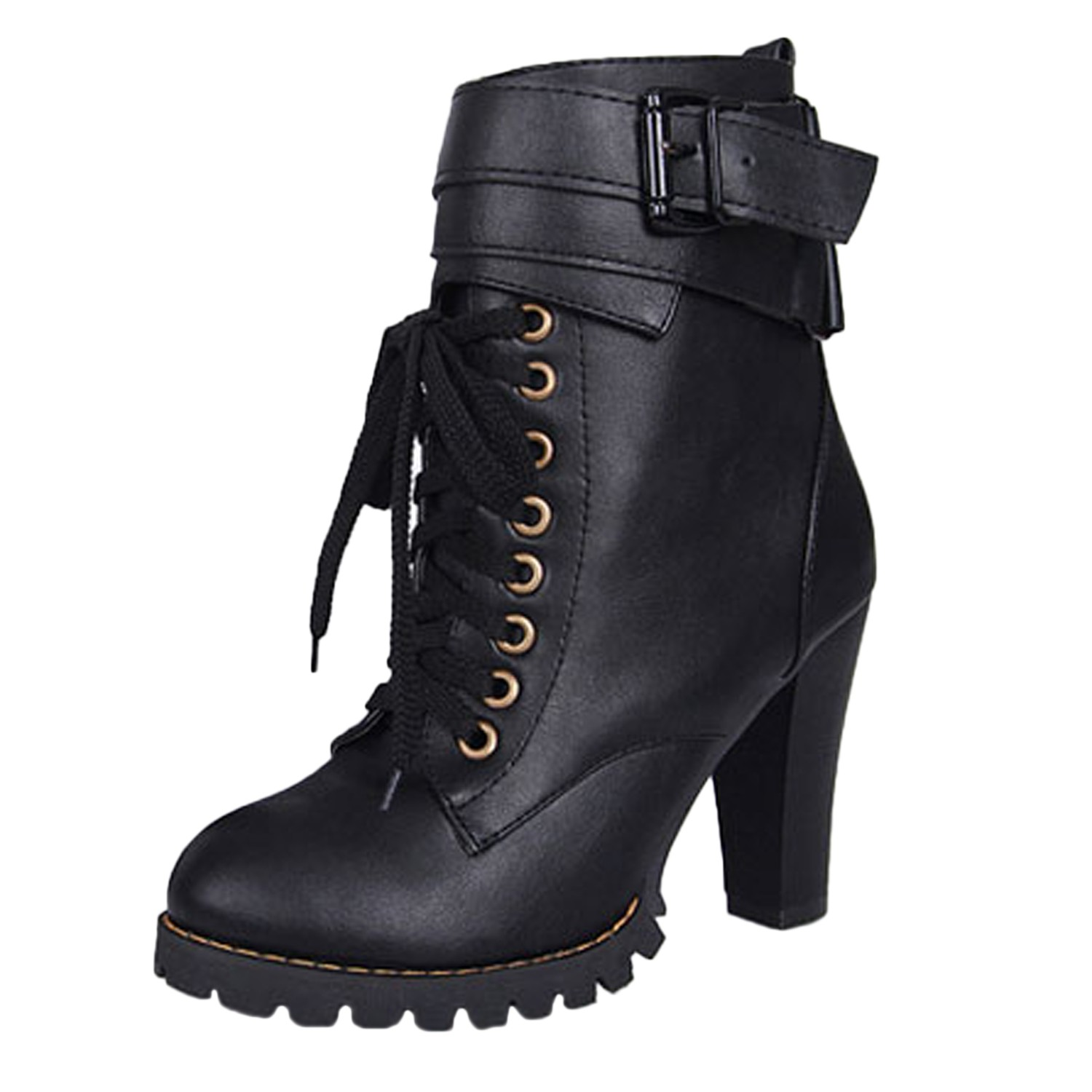 womens ankle boots high heel shoes boots winter army. Black Bedroom Furniture Sets. Home Design Ideas