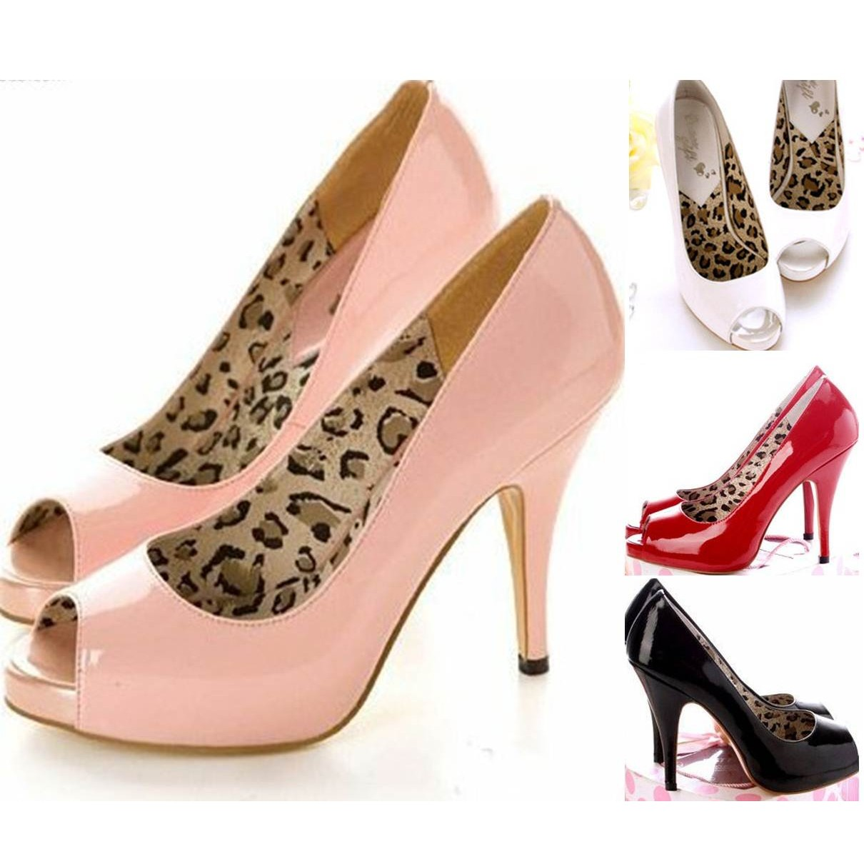 Open Peep Toe Pump High Heels Shoes - SH02#