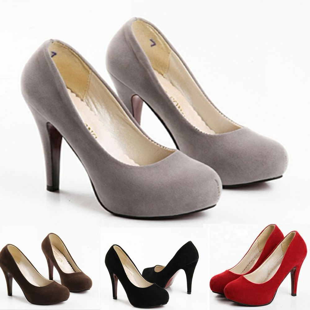 Suede Pump High Heels Court Shoes - SH06#
