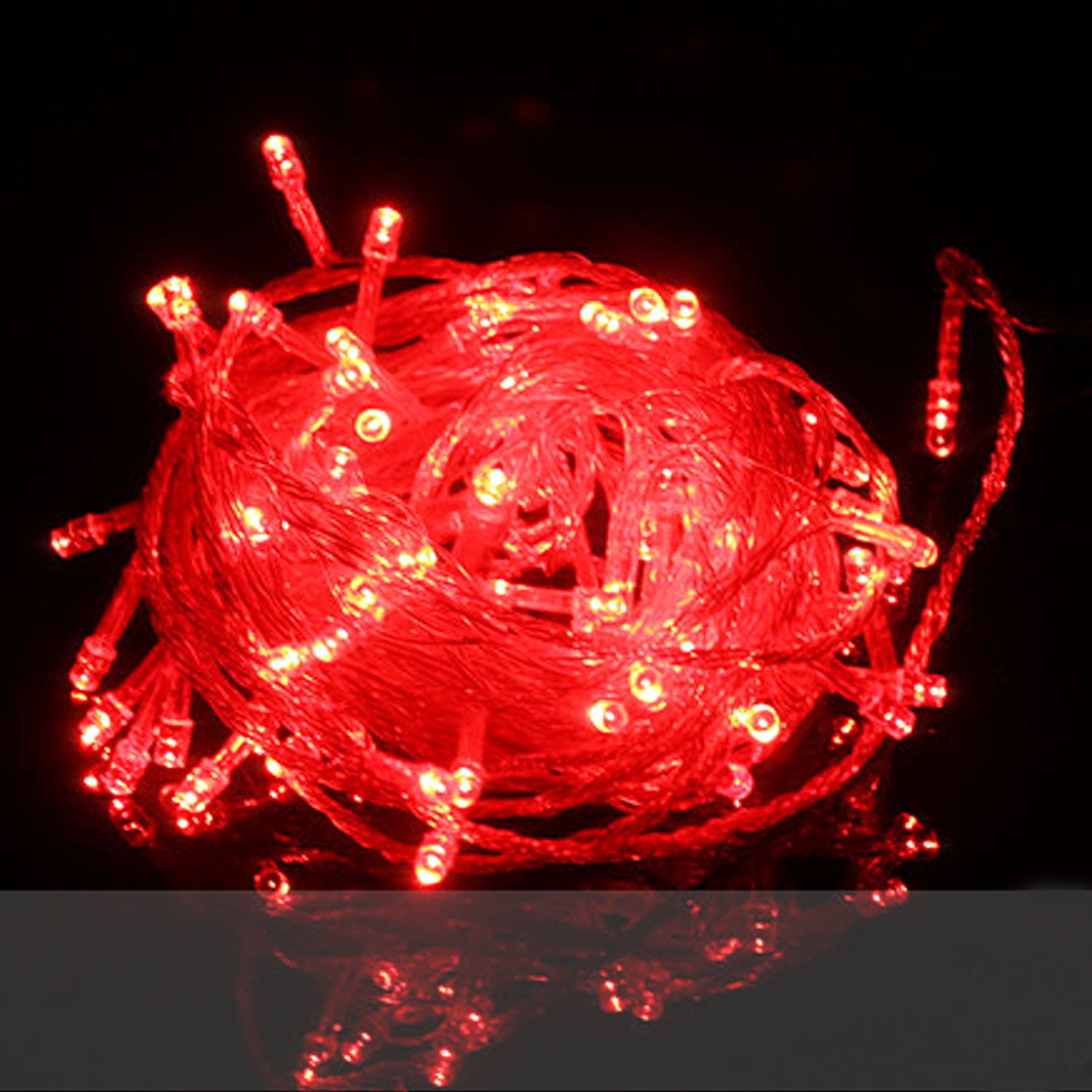String Of Red Christmas Lights : Red Decorations Outdoor LED String Lights Bulbs Christmas Tree Lighting 100M eBay